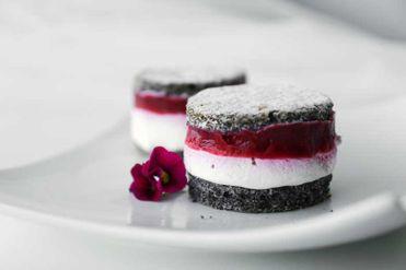 Makovo - malinové tortičky